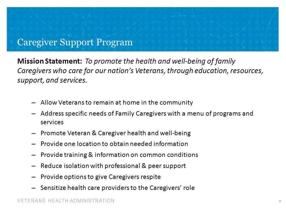 Caregiver Support Program