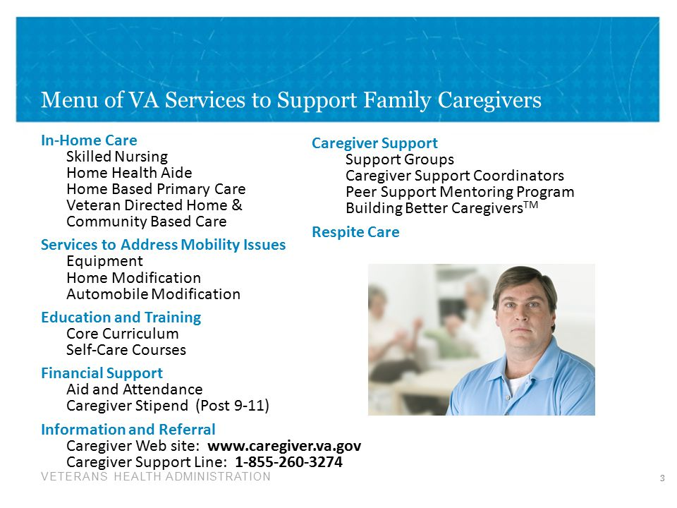 Menu of VA Services to Support Family Caregivers