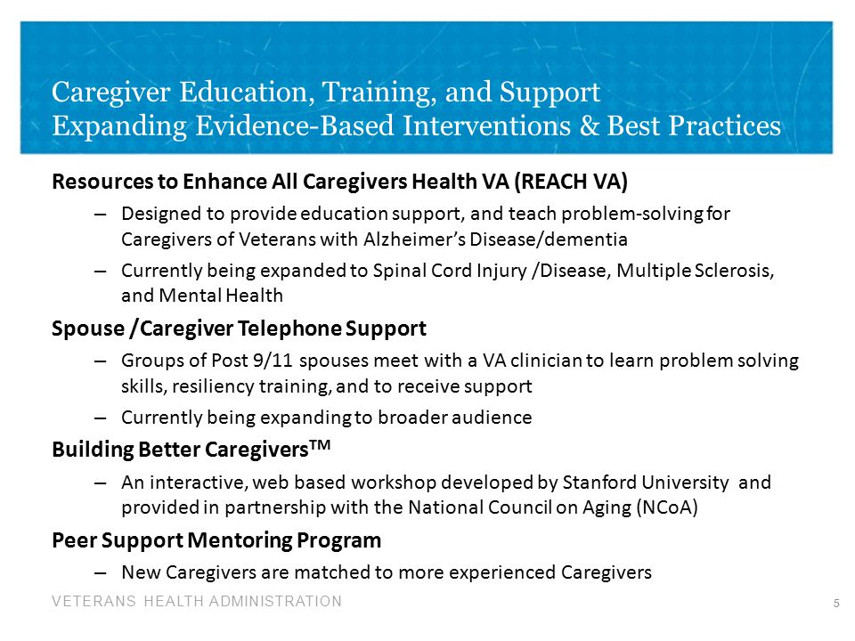 Caregiver Education, Training, and Support Expanding Evidence-Based Interventions & Best Practices