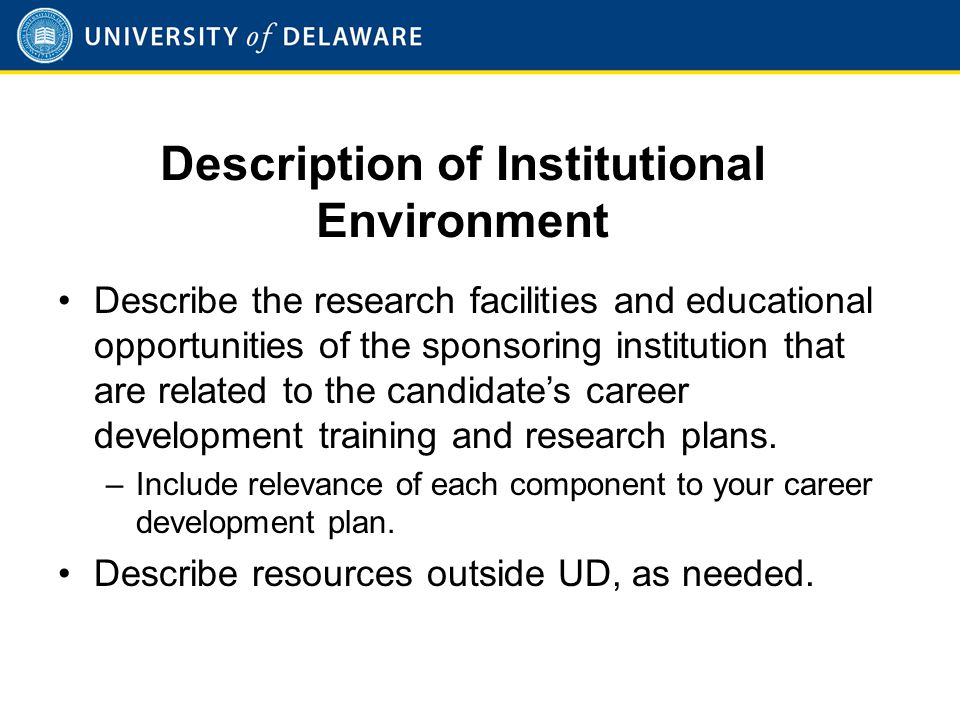 Institutional Commitment to Candidate's Research Career Development