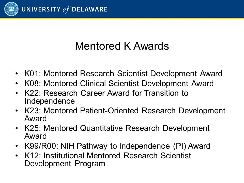 K01 Mentored Research Scientist Development Award