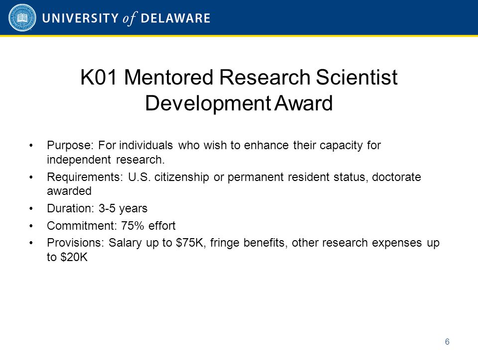 K08 Mentored Clinical Scientist Research Career Development Award