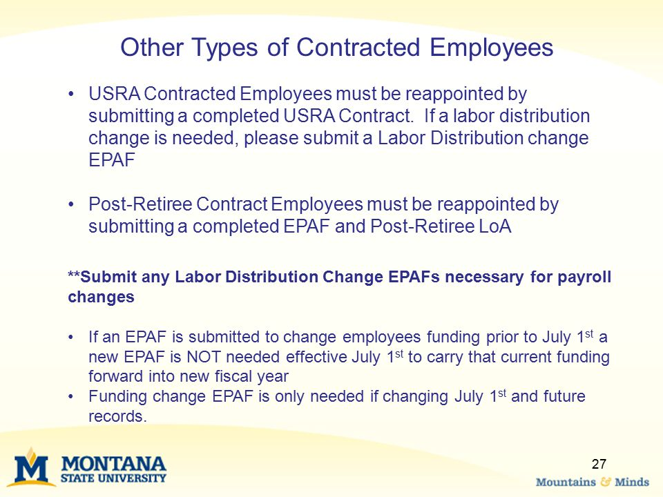 Other Types of Contracted Employees