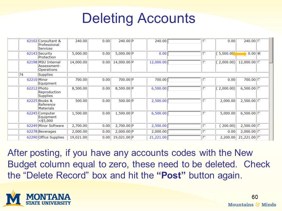 Deleting Accounts