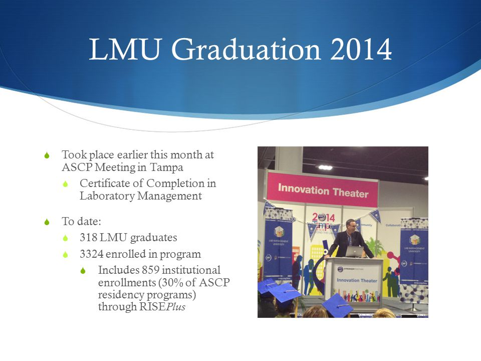 Example of LMU Course ASCP LMU website