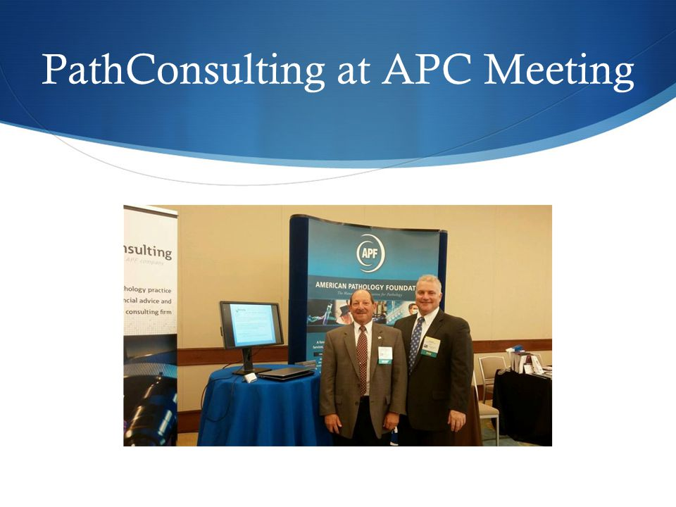 PathConsulting and APF at ASCP