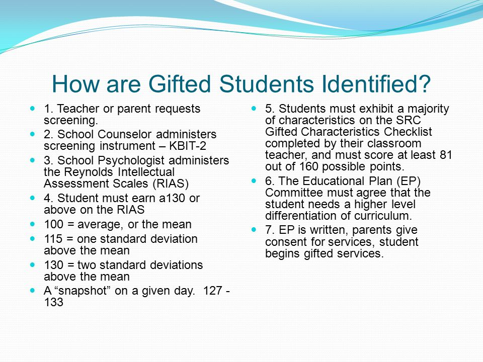 How are Gifted Students Identified
