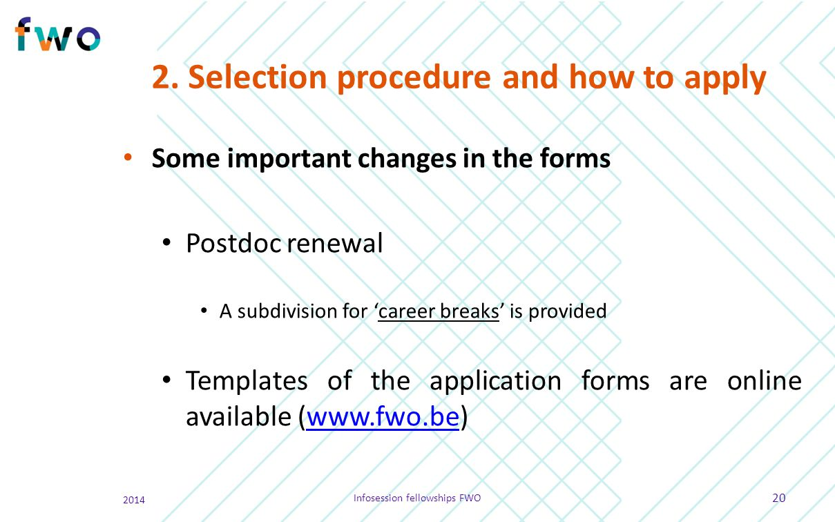2. Selection procedure and how to apply