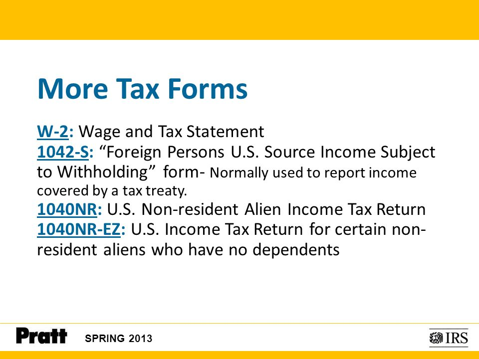 More Tax Forms W-2: Wage and Tax Statement