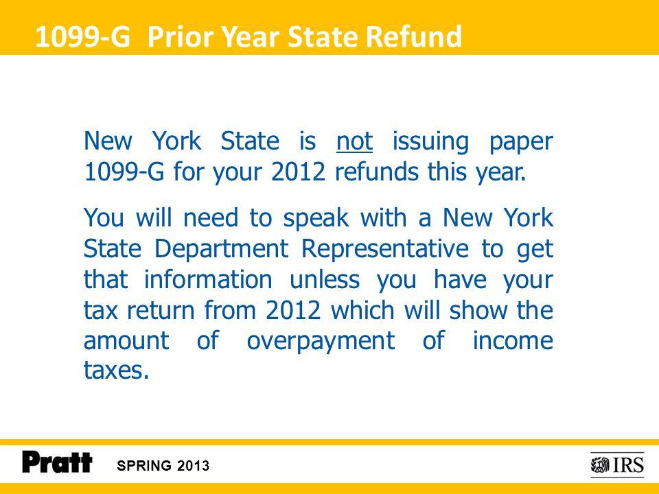 1099-G Prior Year State Refund