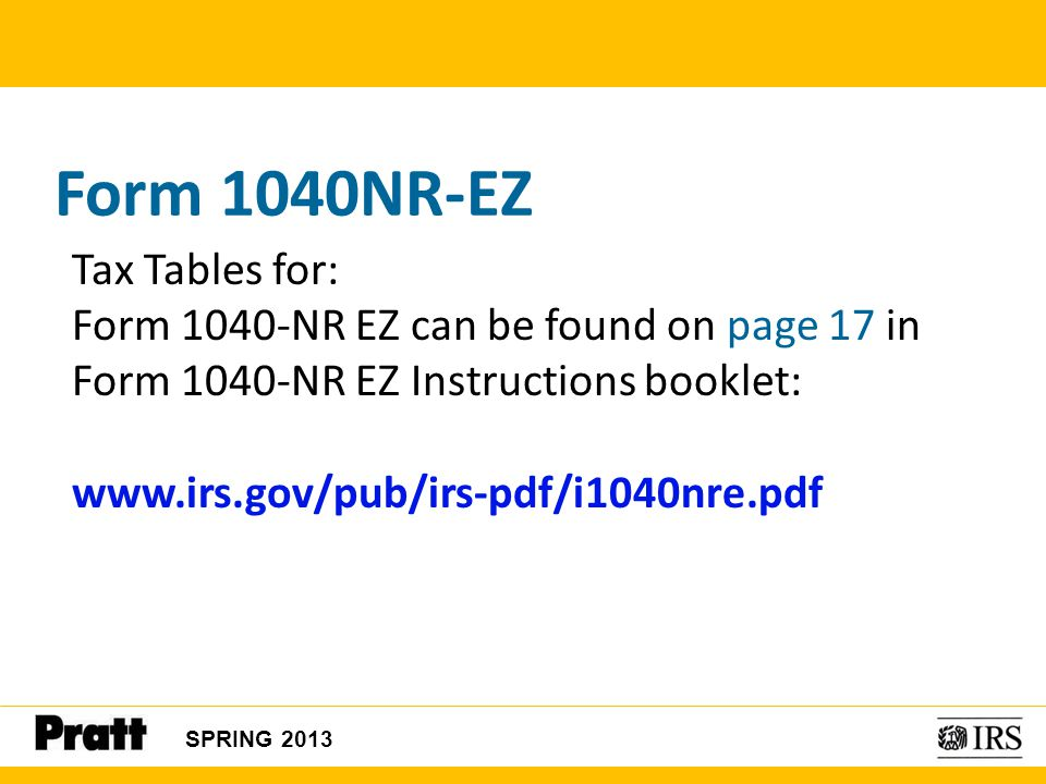 1040nr Instructions Tax Table Microfinanceindia