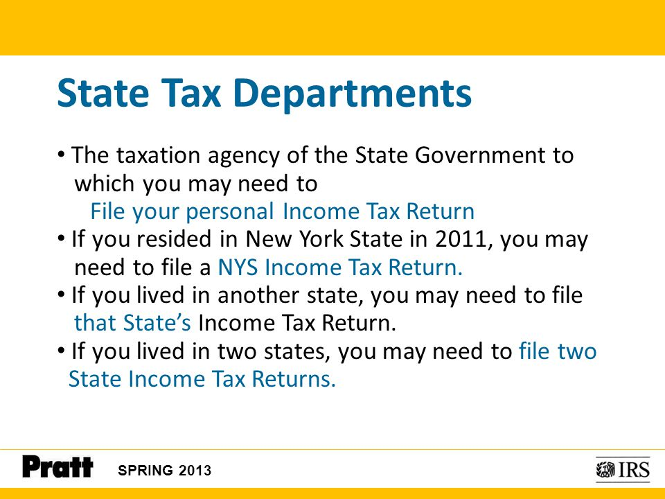 State Tax Departments The taxation agency of the State Government to
