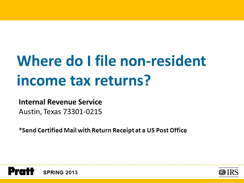 Where do I file non-resident income tax returns