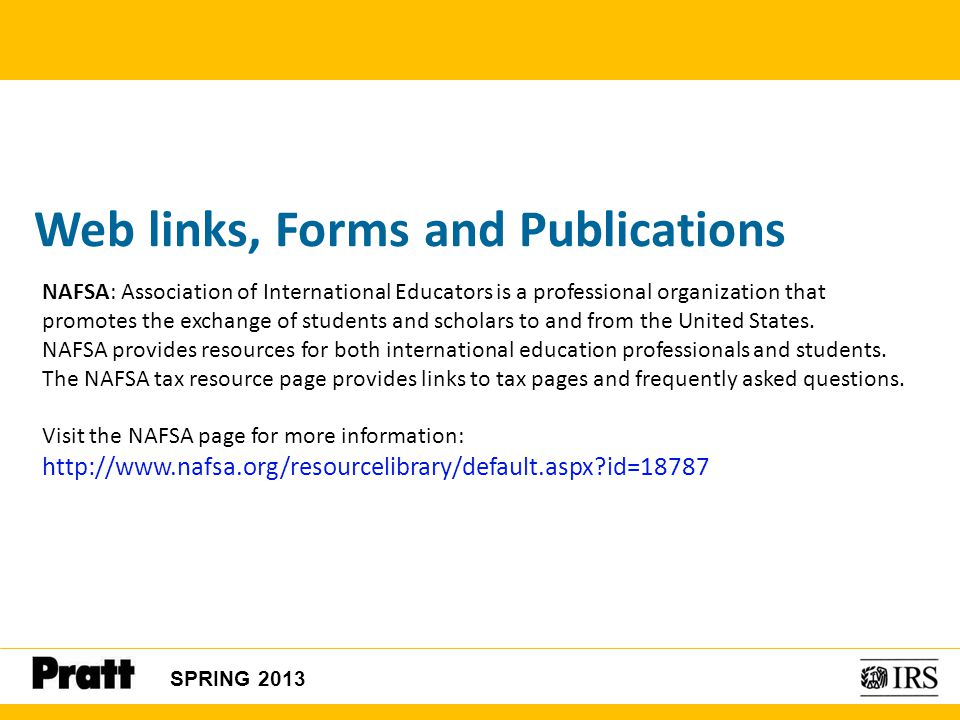 Web links, Forms and Publications
