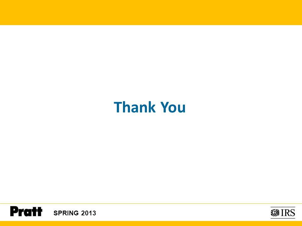 Thank You SPRING 2013