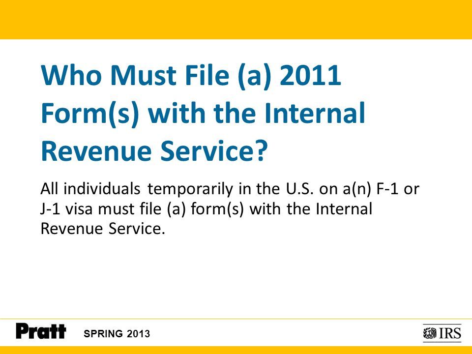 Who Must File (a) 2011 Form(s) with the Internal Revenue Service