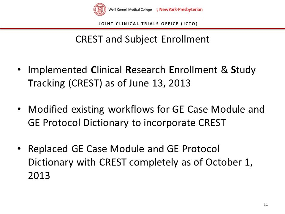 CREST and Subject Enrollment