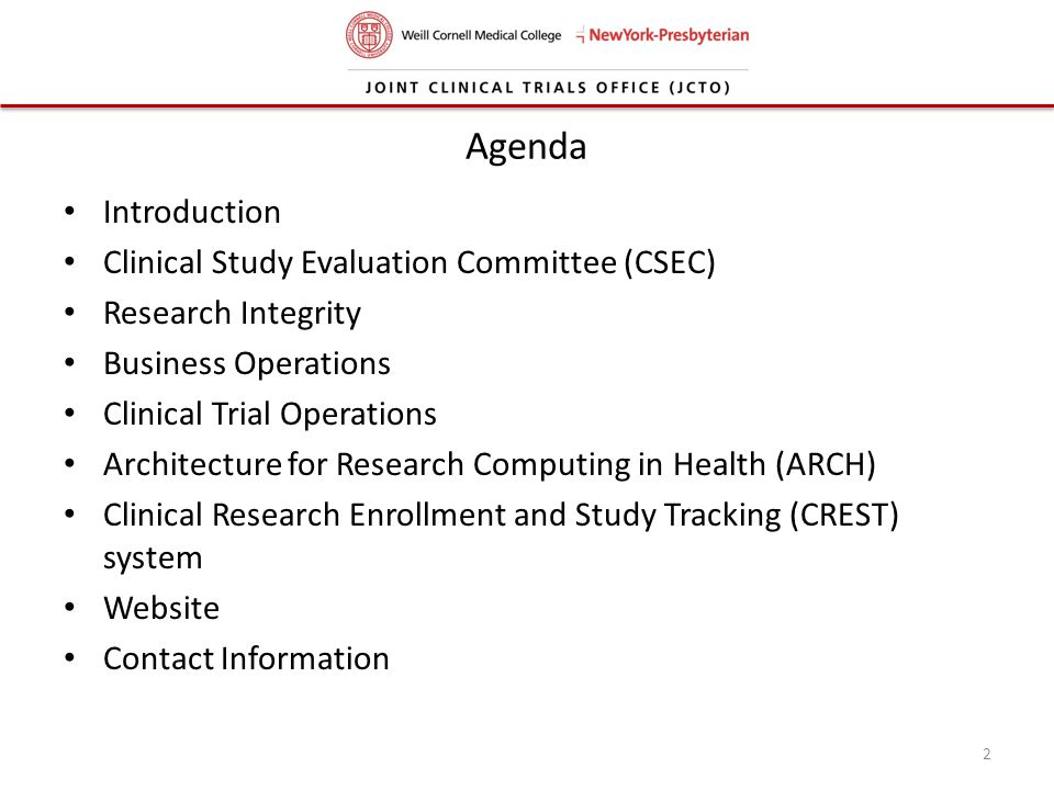 Agenda Introduction Clinical Study Evaluation Committee (CSEC)