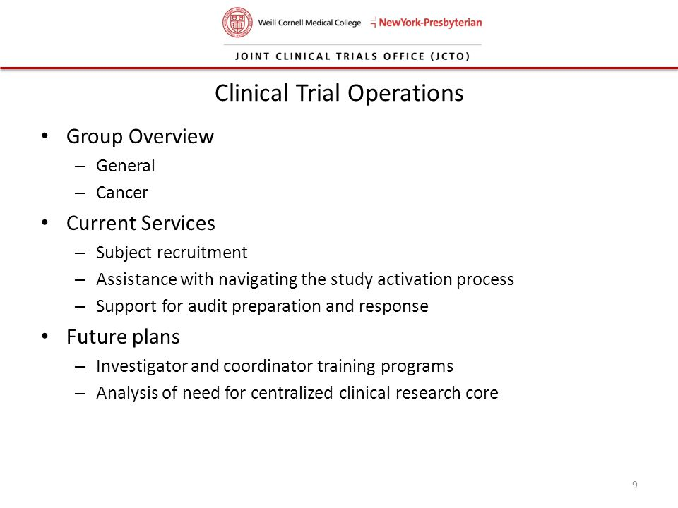 Clinical Trial Operations