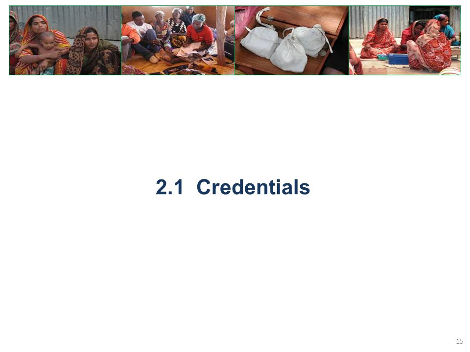 2.1 Credentials