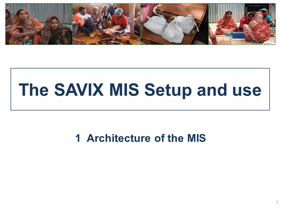 The SAVIX MIS Setup and use