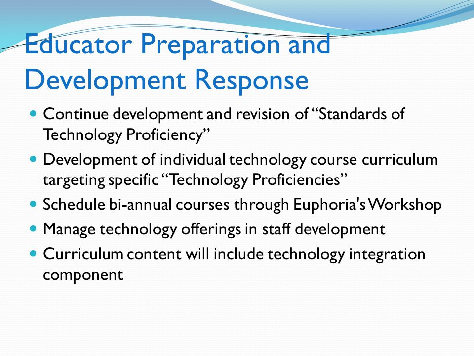 Educator Preparation and Development Response