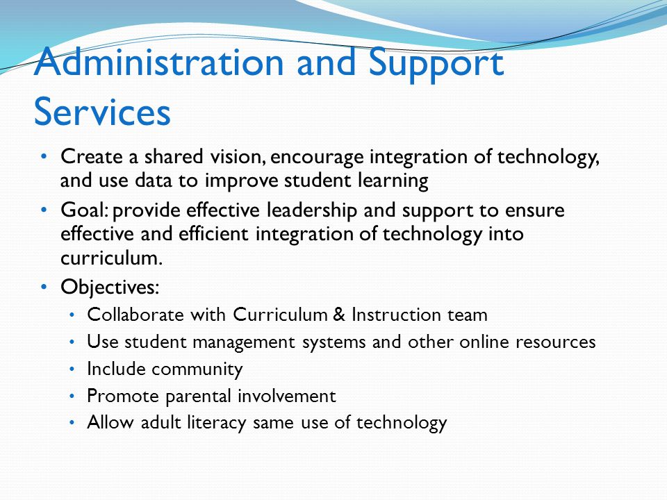 Administration and Support Services