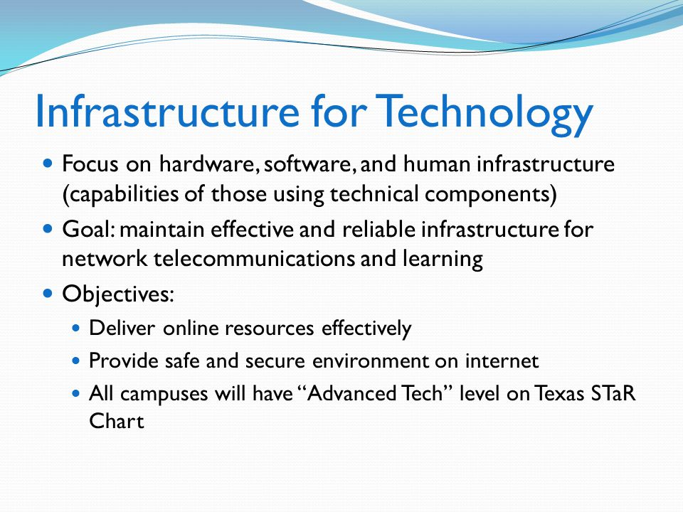 Infrastructure for Technology