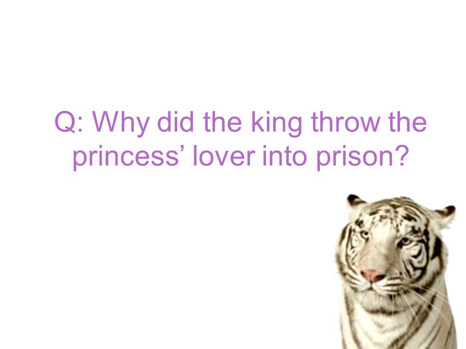 Q: Why did the king throw the princess' lover into prison
