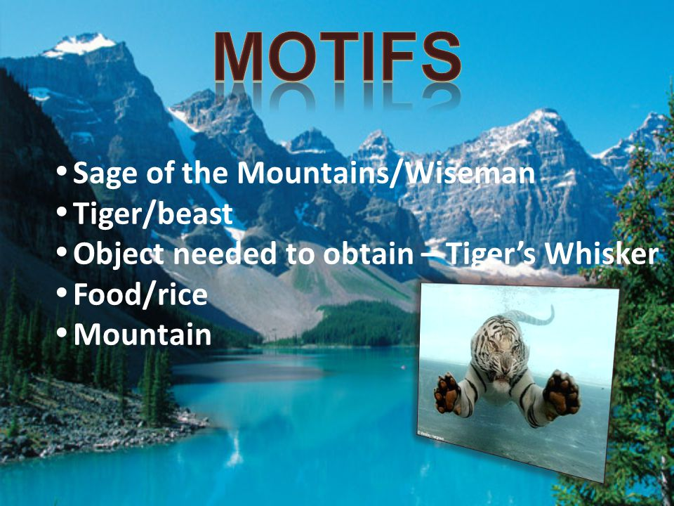 Motifs Sage of the Mountains/Wiseman Tiger/beast