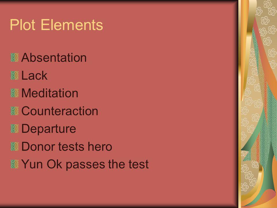 Plot Elements Absentation Lack Meditation Counteraction Departure