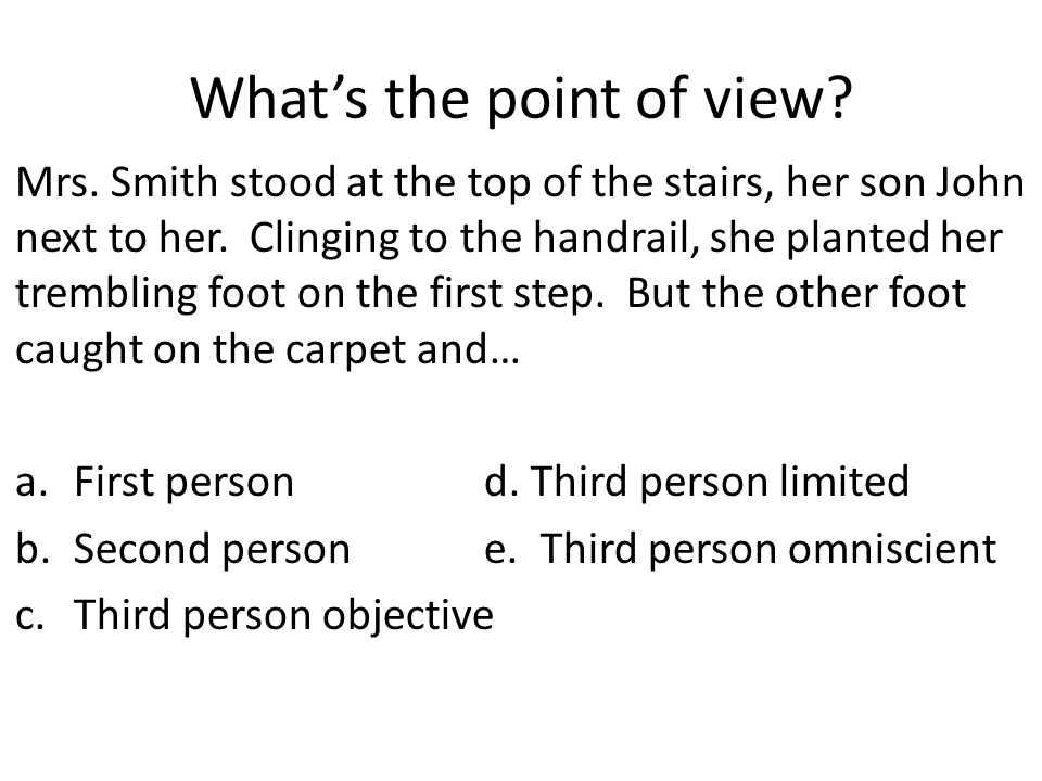 What's the point of view
