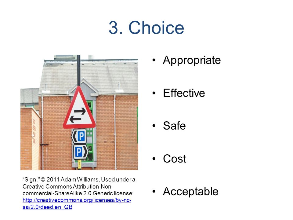 3. Choice Appropriate Effective Safe Cost Acceptable