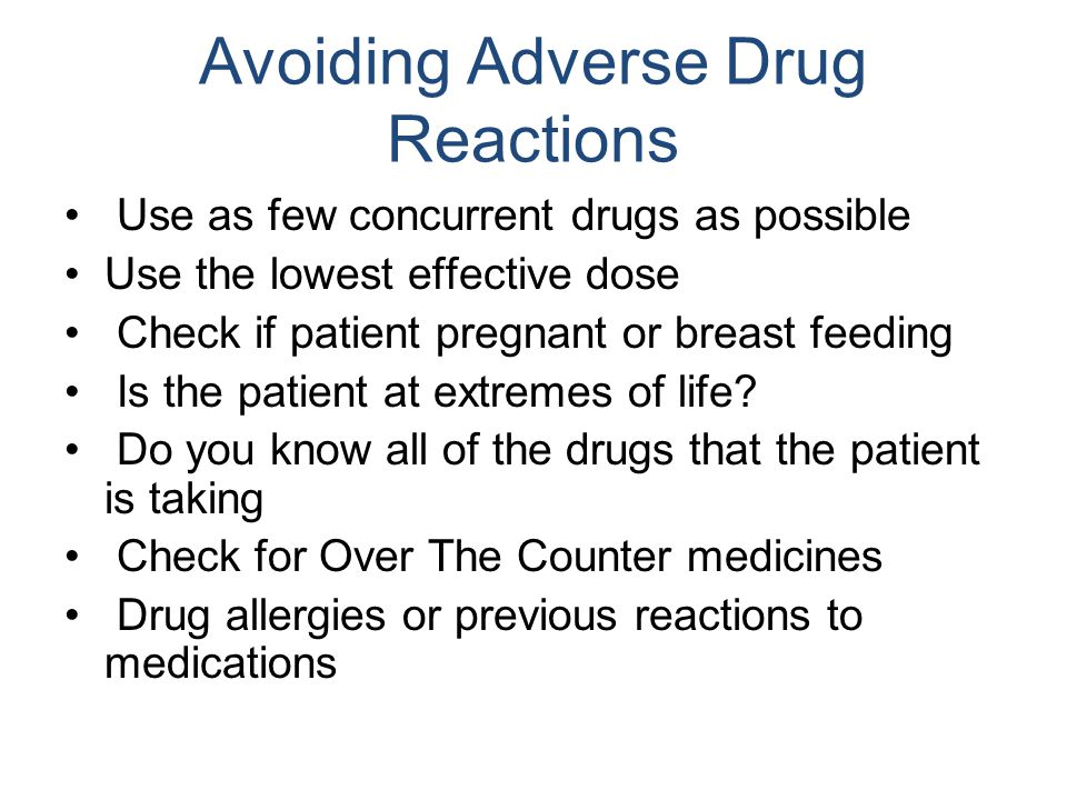 Avoiding Adverse Drug Reactions