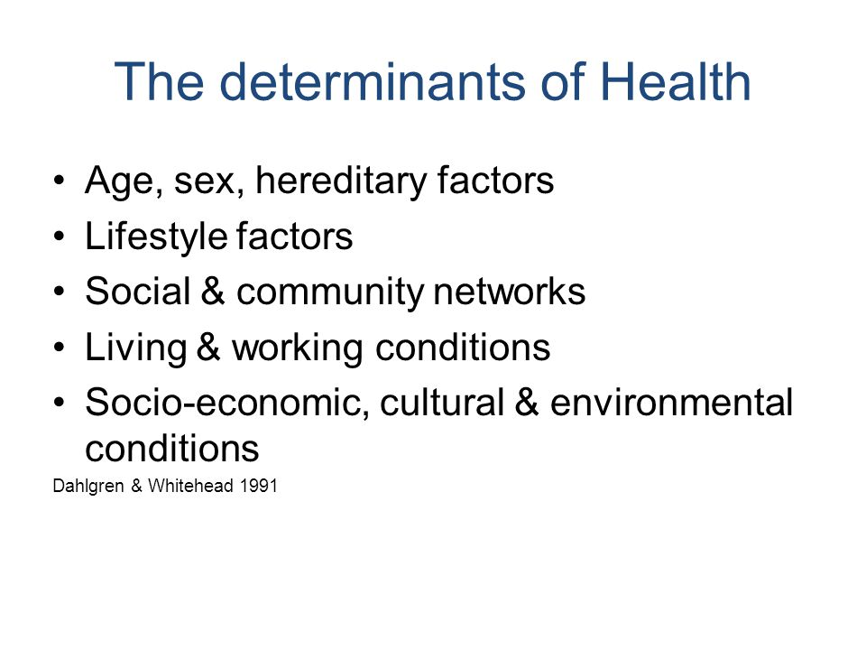 The determinants of Health