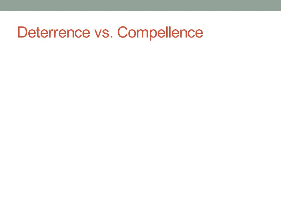 Deterrence vs. Compellence