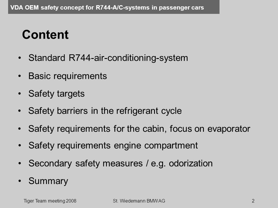 Content Standard R744-air-conditioning-system Basic requirements