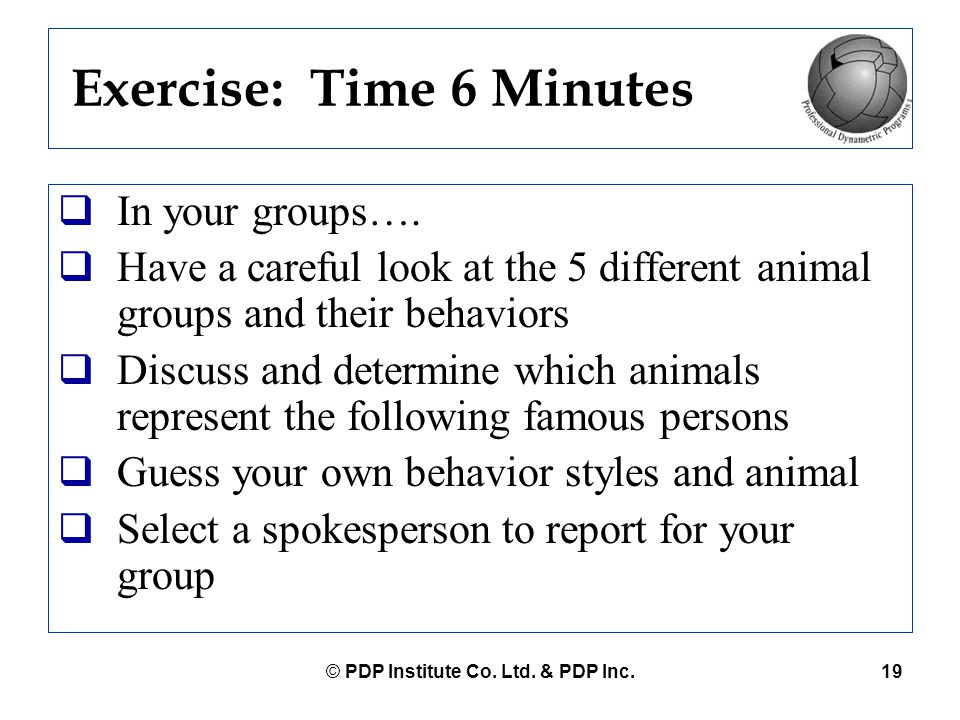 Exercise: Time 6 Minutes