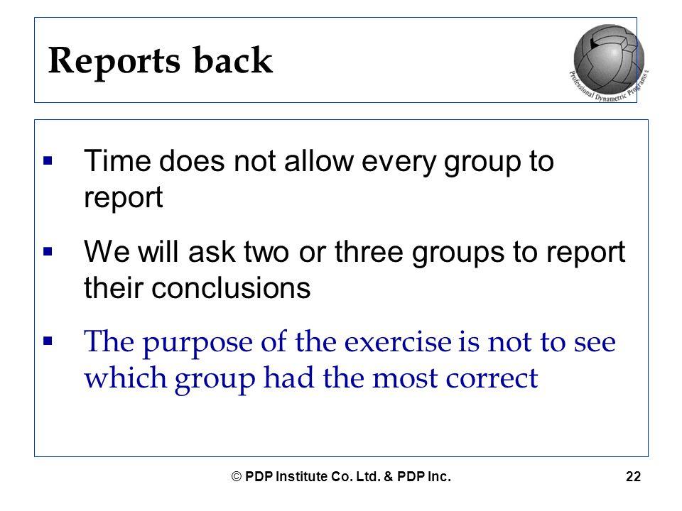 © PDP Institute Co. Ltd. & PDP Inc.