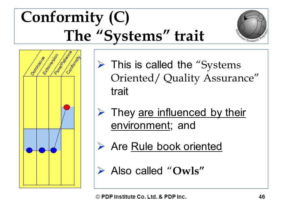 Conformity (C) The Systems trait