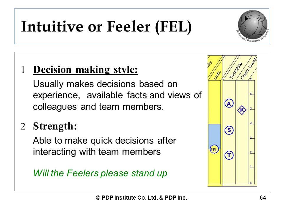 Intuitive or Feeler (FEL)