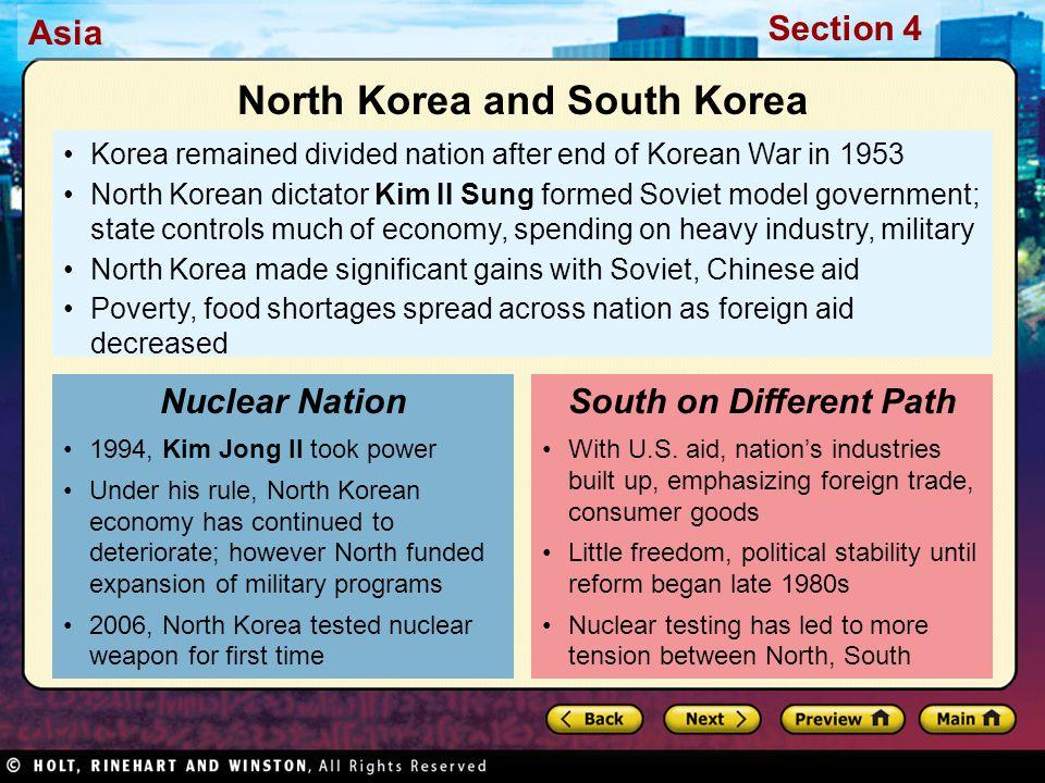 North Korea and South Korea