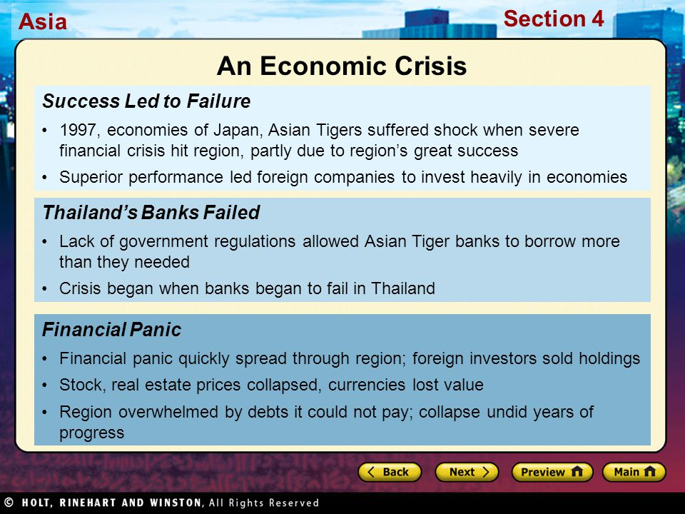 An Economic Crisis Success Led to Failure Thailand's Banks Failed