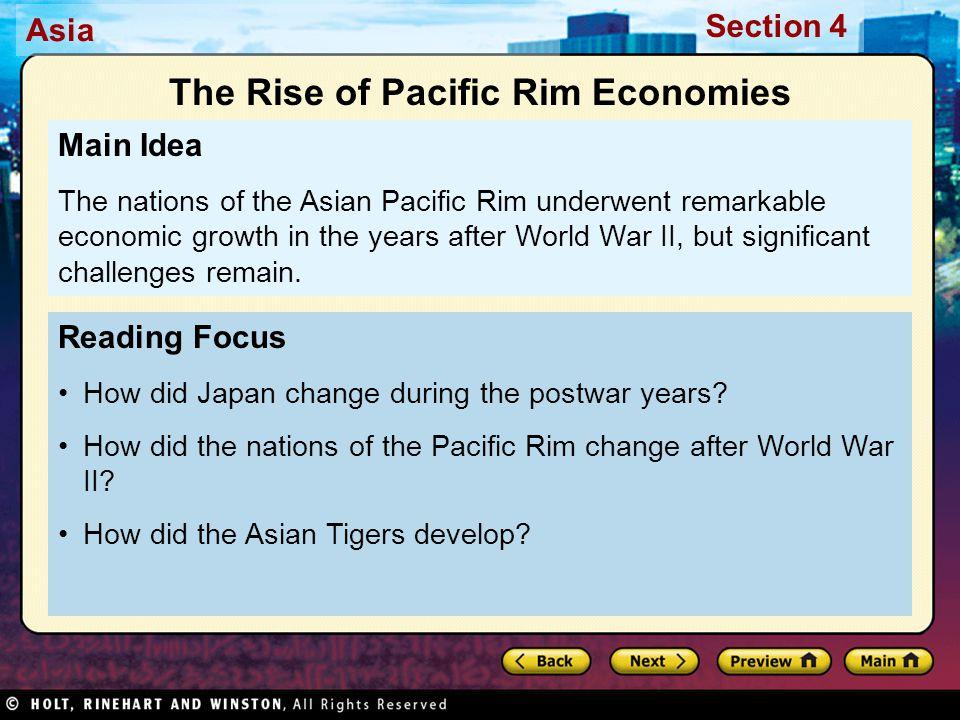 The Rise of Pacific Rim Economies