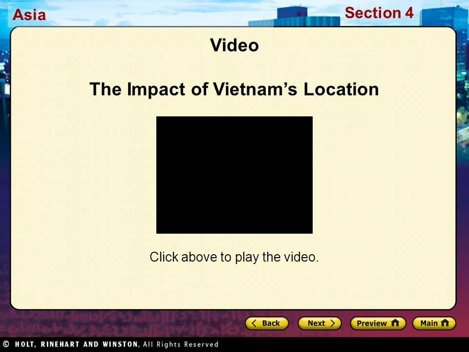 Video The Impact of Vietnam's Location