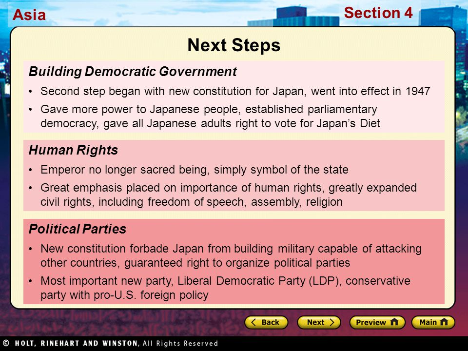 Next Steps Building Democratic Government Human Rights