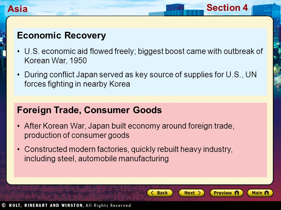 Foreign Trade, Consumer Goods