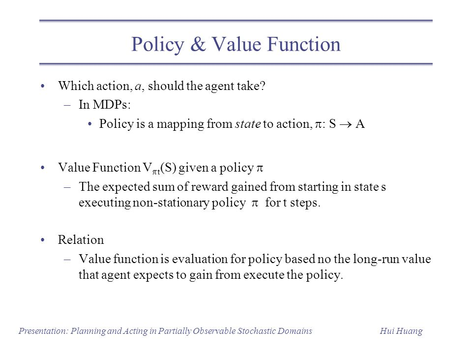 Policy & Value Function