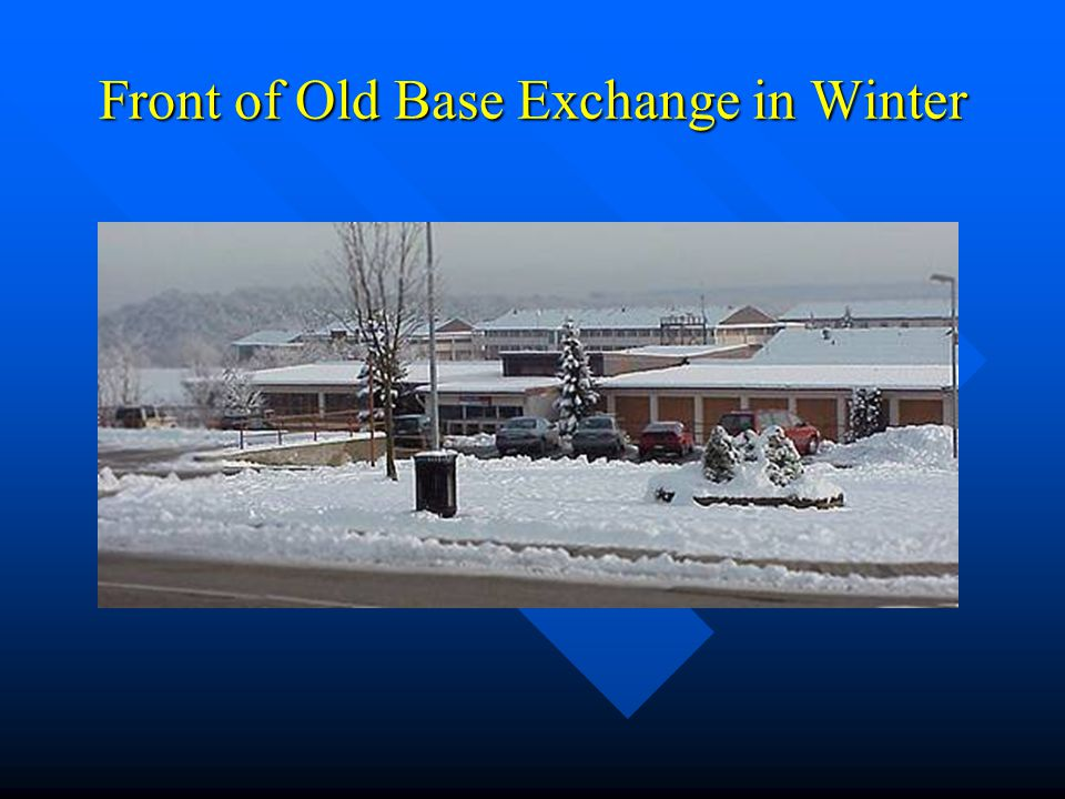 Front of Old Base Exchange in Winter