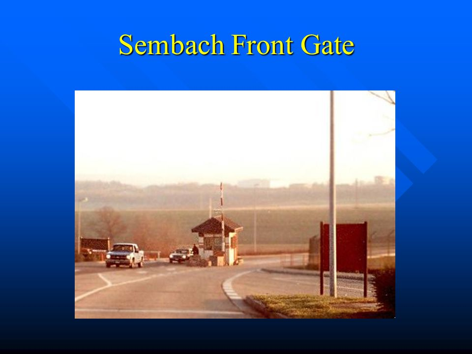 Sembach Front Gate